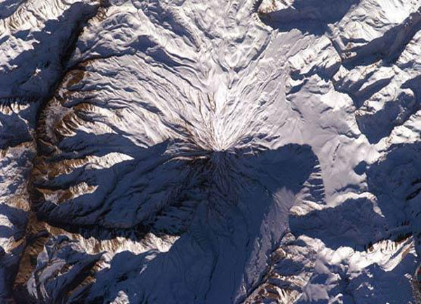 Aerial photographs taken by NASA of Mount Damavand